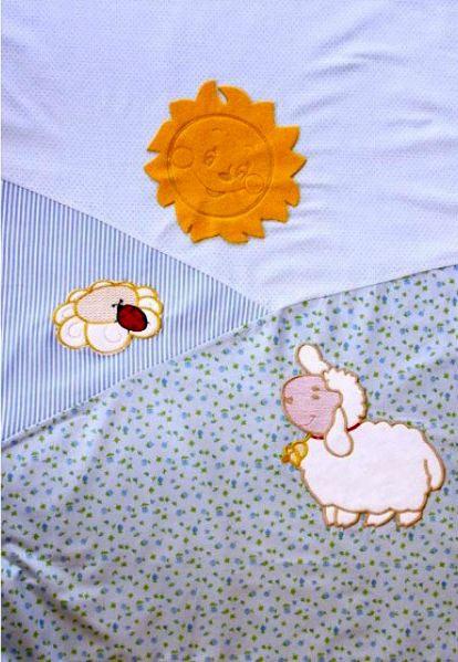 Постельное белье ЗОЛОТОЙ ГУСЬ Веселые овечки (7 предметов) (фото, вид 2)