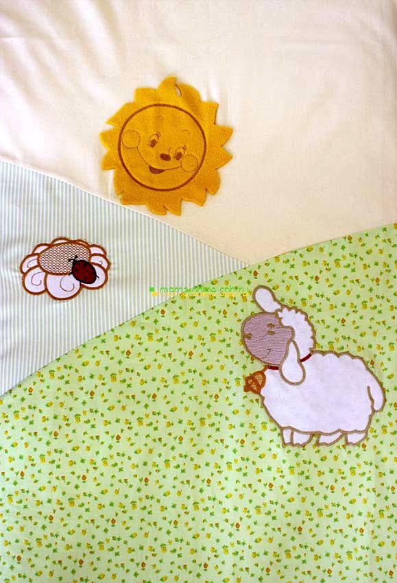 Постельное белье ЗОЛОТОЙ ГУСЬ Веселые овечки (7 предметов) (фото, вид 4)