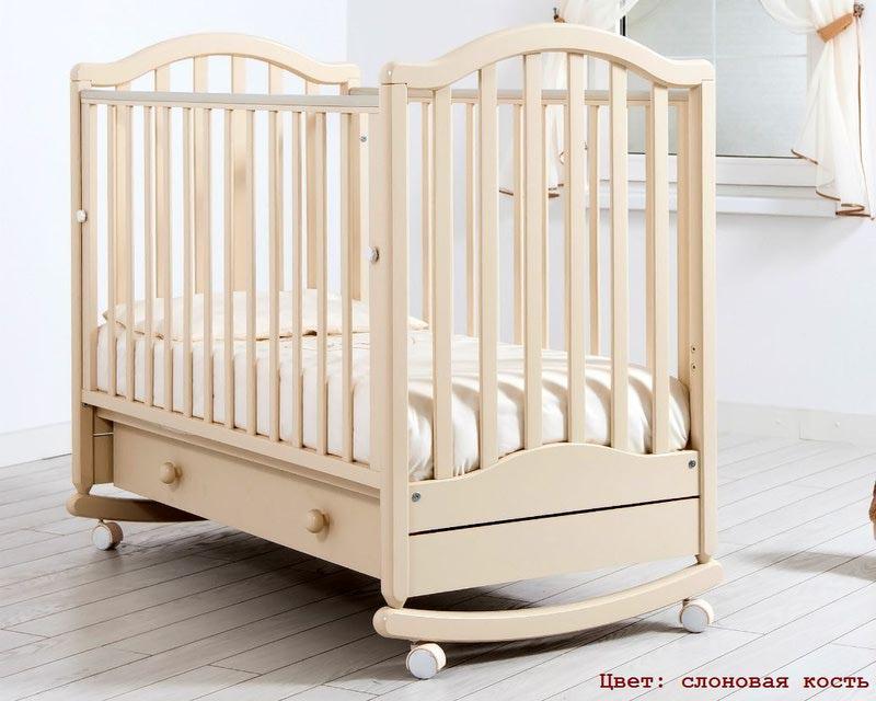 Кроватка GANDYLYAN ЛЕЙЛА (качалка) (фото, вид 1)