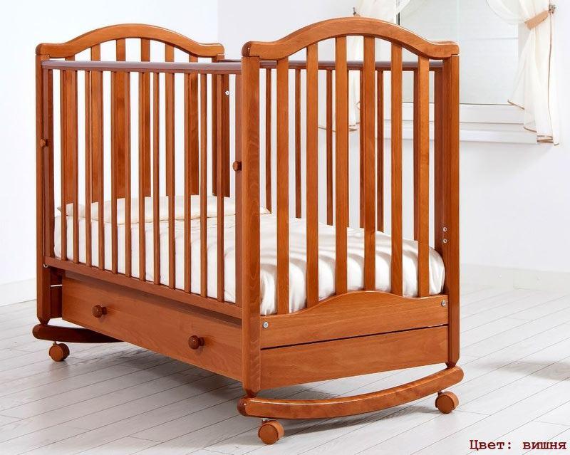 Кроватка GANDYLYAN ЛЕЙЛА (качалка) (фото, вид 4)