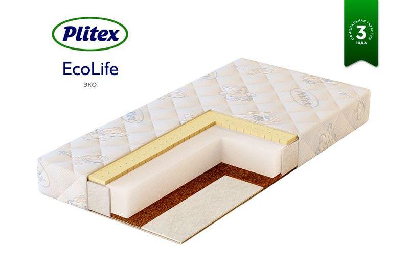 Матрас детский PLITEX ECO LIFE (120x60 см) (фото, вид 1)