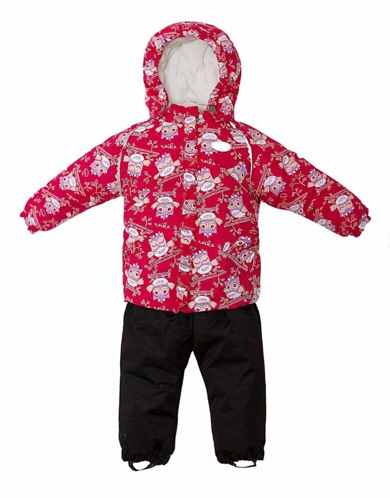 REIKE Комплект для девочки (куртка+полукомбинезон) owls pink (фото, вид 1)