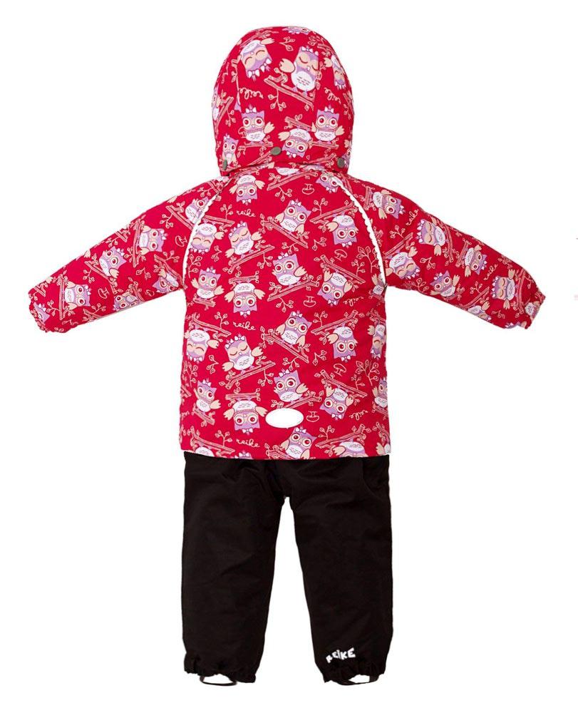REIKE Комплект для девочки (куртка+полукомбинезон) owls pink (фото, вид 2)