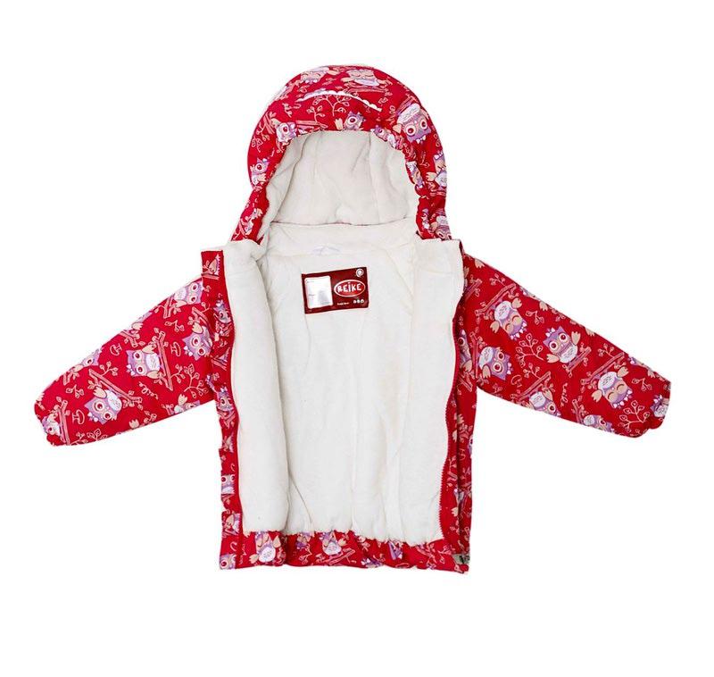 REIKE Комплект для девочки (куртка+полукомбинезон) owls pink (фото, вид 4)