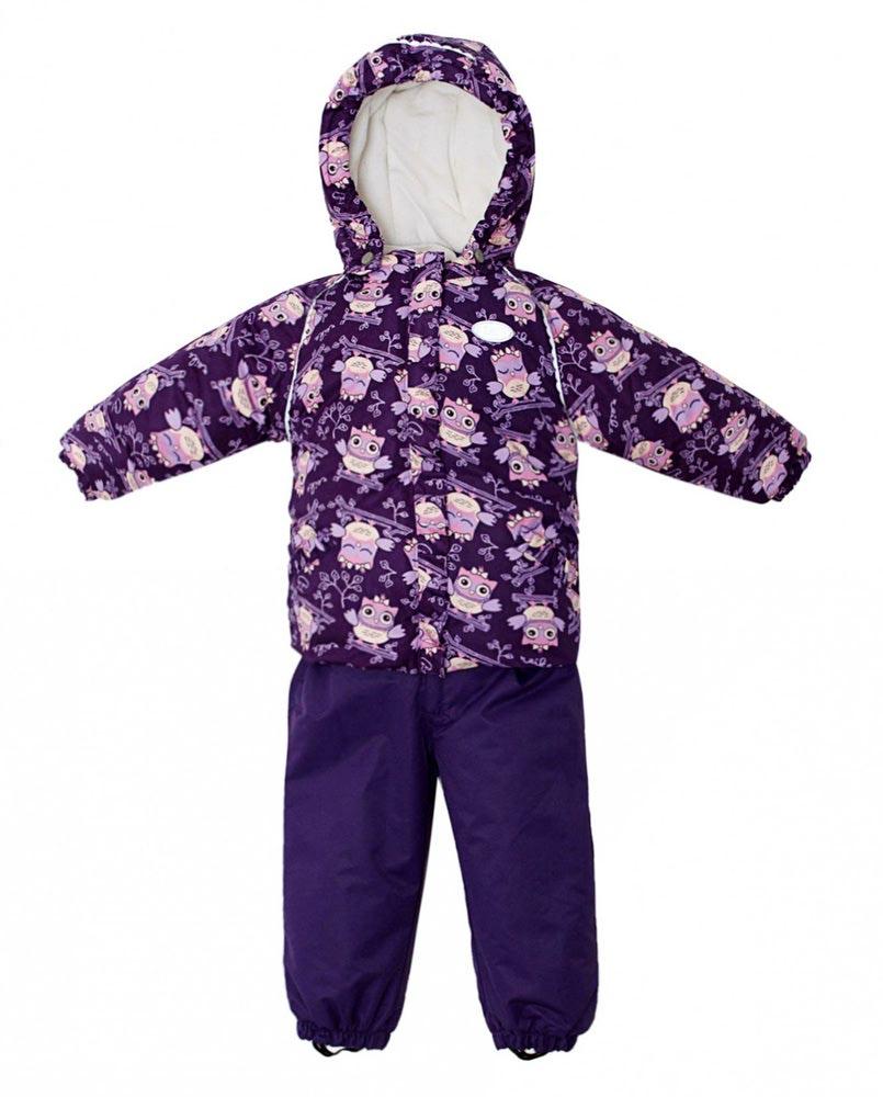 REIKE Комплект для девочки (куртка+полукомбинезон) owls violet (фото, вид 1)