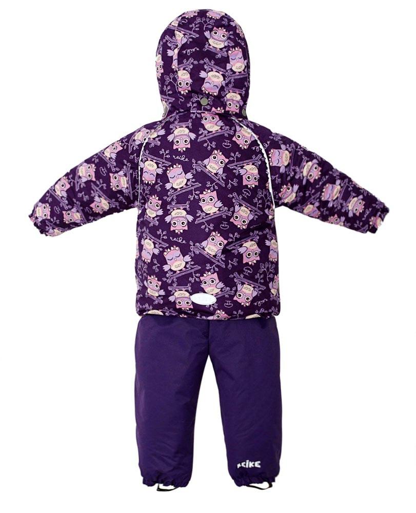 REIKE Комплект для девочки (куртка+полукомбинезон) owls violet (фото, вид 2)