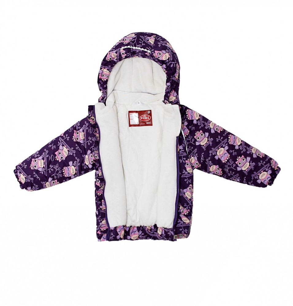 REIKE Комплект для девочки (куртка+полукомбинезон) owls violet (фото, вид 4)