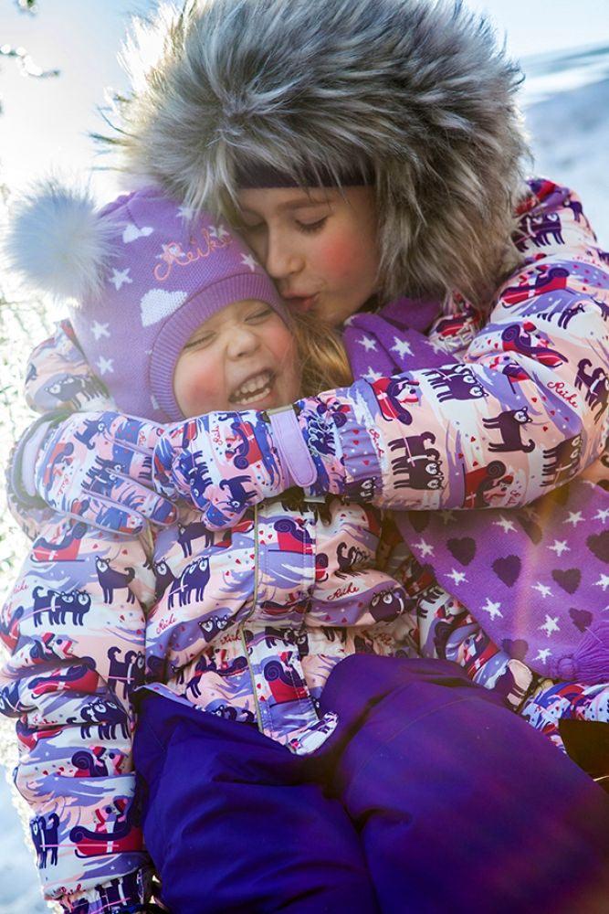 REIKE Комплект для девочки (куртка+полукомбинезон) owls violet (фото, вид 5)