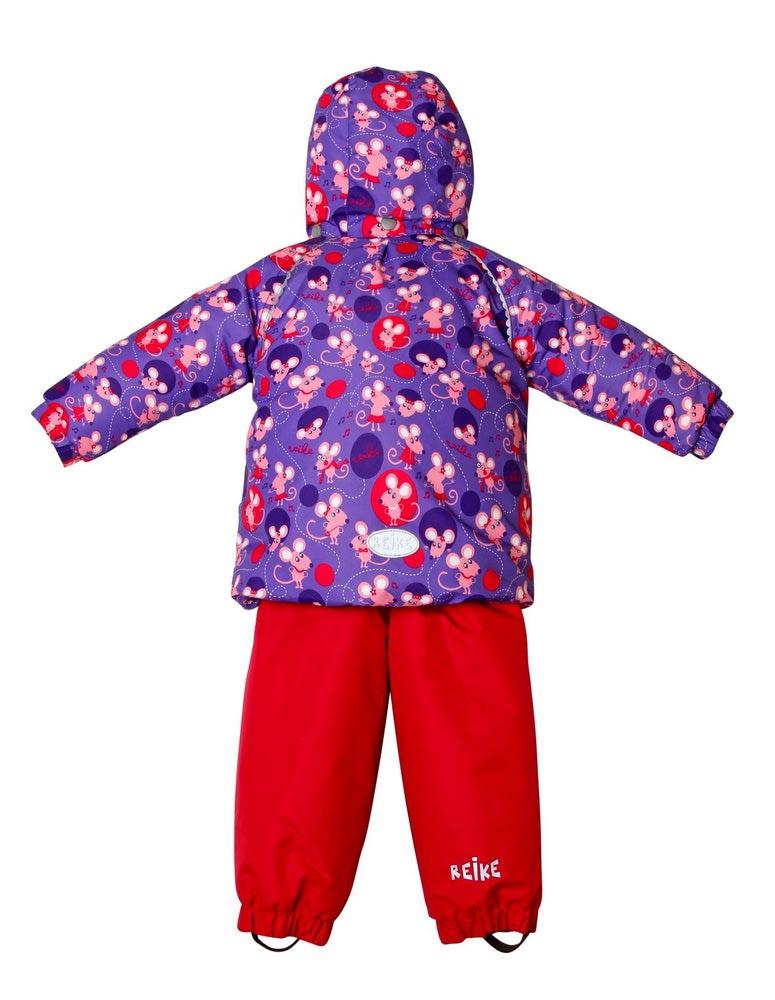 REIKE Комплект для девочки (куртка+полукомбинезон) mice violet (фото, вид 2)