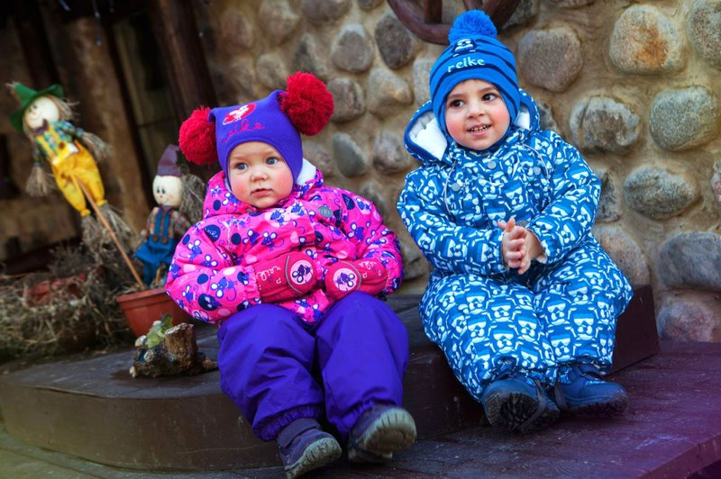 REIKE Комплект для девочки (куртка+полукомбинезон) mice violet (фото, вид 4)