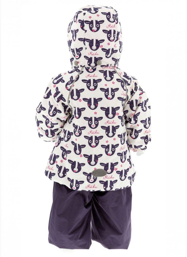 REIKE Комплект для девочки (куртка+полукомбинезон) moomoo white (фото, вид 1)