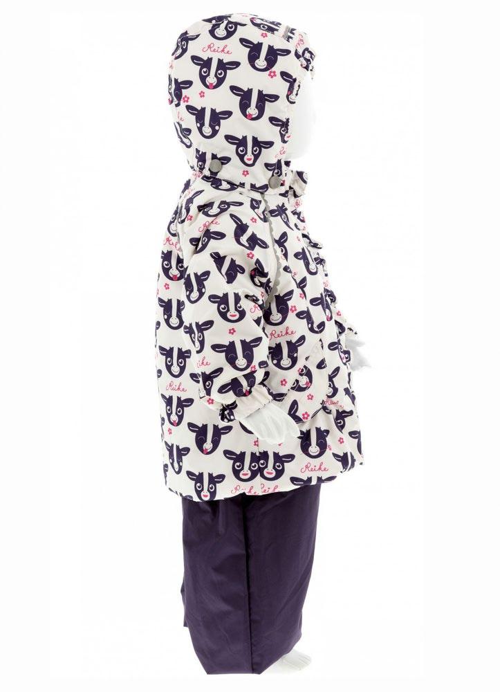 REIKE Комплект для девочки (куртка+полукомбинезон) moomoo white (фото, вид 2)