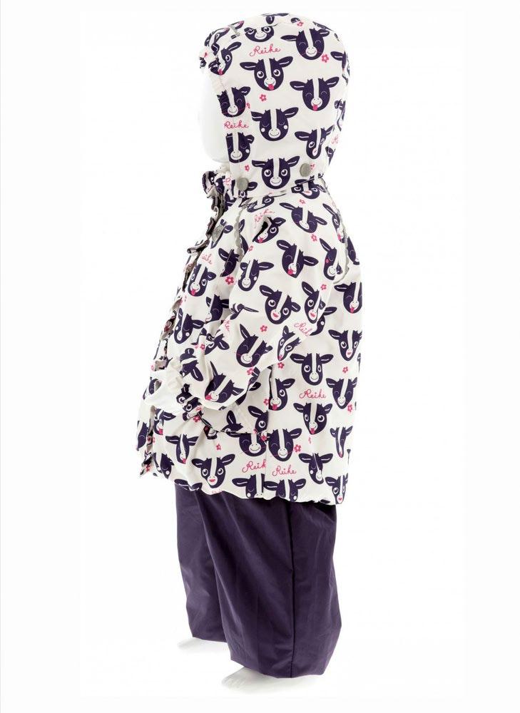 REIKE Комплект для девочки (куртка+полукомбинезон) moomoo white (фото, вид 3)