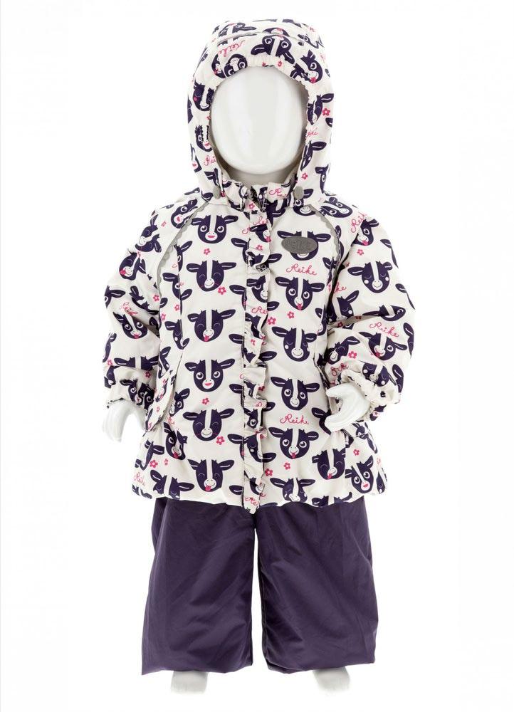 REIKE Комплект для девочки (куртка+полукомбинезон) moomoo white (фото, вид 5)