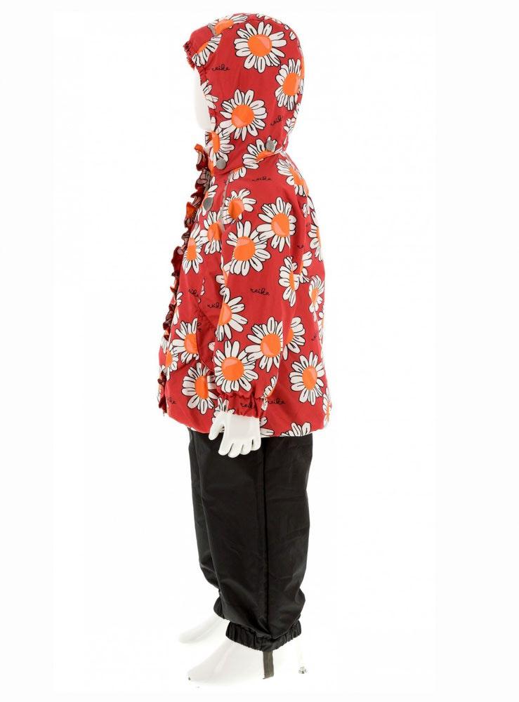 REIKE Комплект для девочки (куртка+полукомбинезон) camomile red (фото, вид 3)