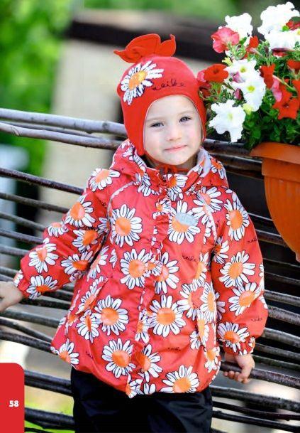 REIKE Комплект для девочки (куртка+полукомбинезон) camomile red (фото, вид 6)