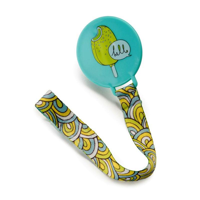 HAPPY BABY Держатель для пустышки Pacifier Holder with ribbon (фото, вид 1)