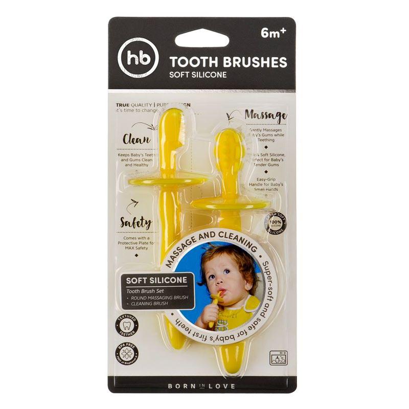 HAPPY BABY Набор силиконовых зубных щеток TOOTH BRUSHES (фото, вид 3)