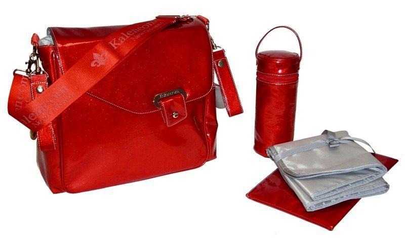 Kalencom Сумка для коляски New Flap Bag Irredescent Pattent (фото, вид 3)