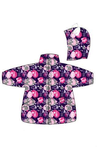 REIKE Комплект детский (куртка+полукомбинезон) FOX purple (фото, вид 1)