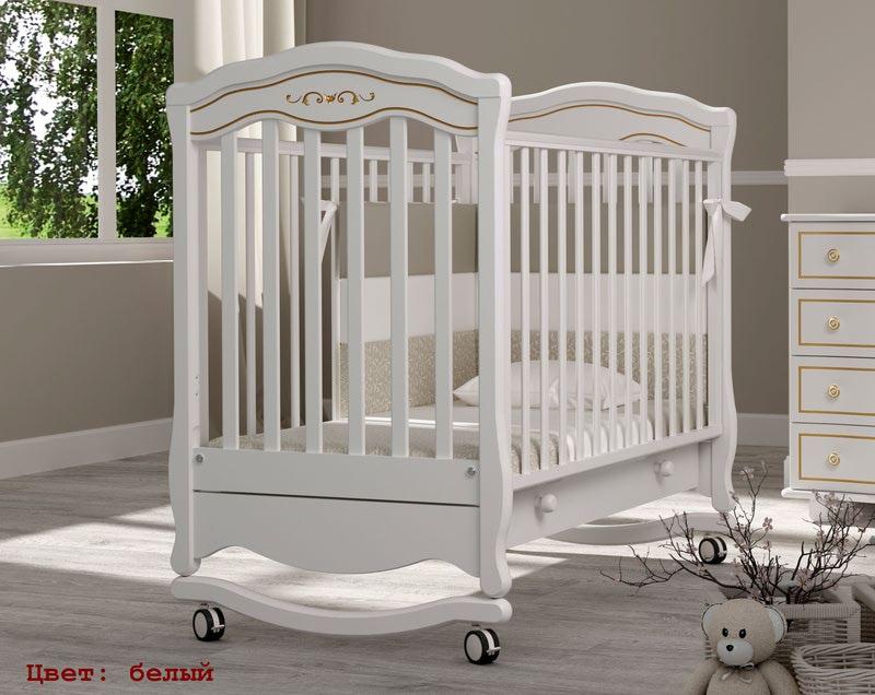 Кроватка GANDYLYAN Шарлотта Люкс (качалка) (фото, вид 2)
