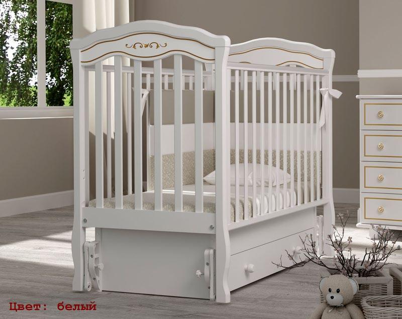 Кроватка GANDYLYAN Шарлотта Люкс (качалка) (фото, вид 3)