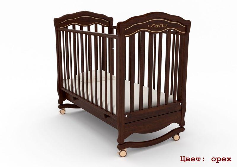 Кроватка GANDYLYAN Шарлотта Люкс (качалка) (фото, вид 6)