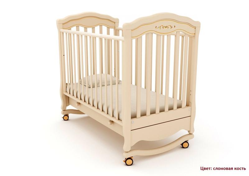 Кроватка GANDYLYAN Шарлотта Люкс (качалка) (фото, вид 8)