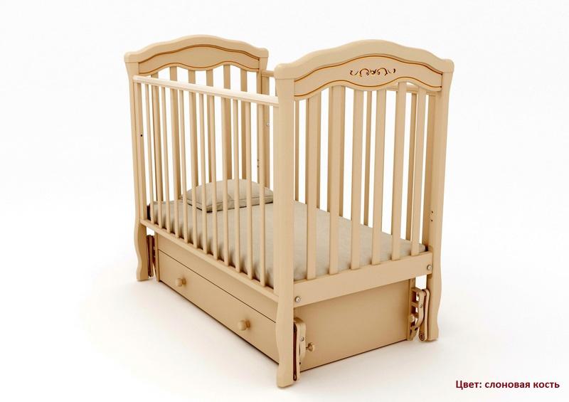 Кроватка GANDYLYAN Шарлотта Люкс (качалка) (фото, вид 9)
