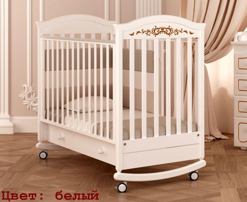 Кроватка GANDYLYAN Даниэль Люкс (качалка) (фото, вид 1)