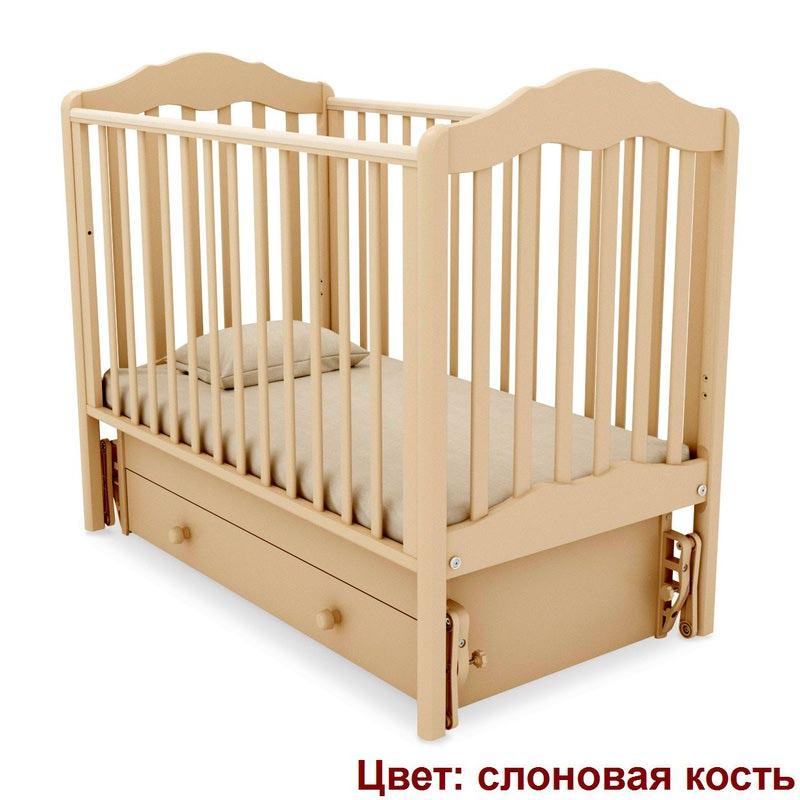 Кроватка GANDYLYAN АНАСТАСИЯ (универсальный маятник) (фото, вид 10)