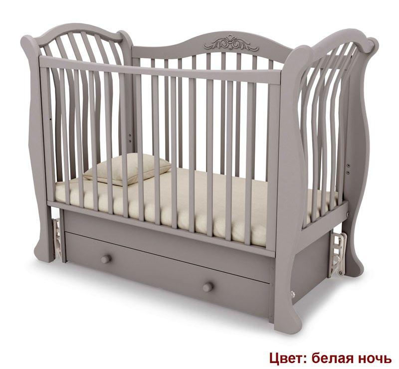 Кроватка GANDYLYAN Габриэлла люкс (маятник универсальный) (фото, вид 8)