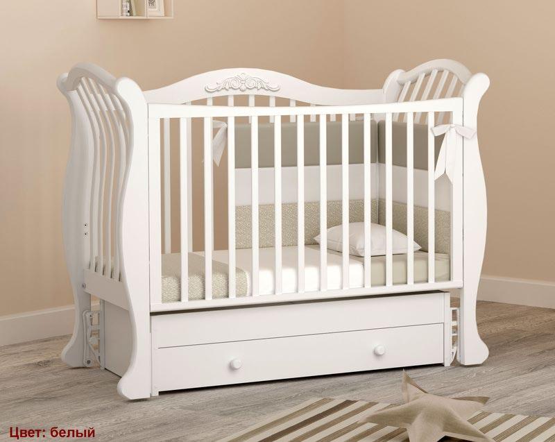 Кроватка GANDYLYAN Габриэлла люкс (маятник универсальный) (фото, вид 9)