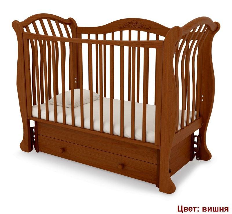 Кроватка GANDYLYAN Габриэлла люкс (маятник универсальный) (фото, вид 10)