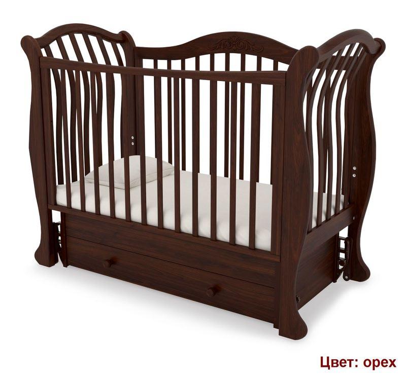 Кроватка GANDYLYAN Габриэлла люкс (маятник универсальный) (фото, вид 12)