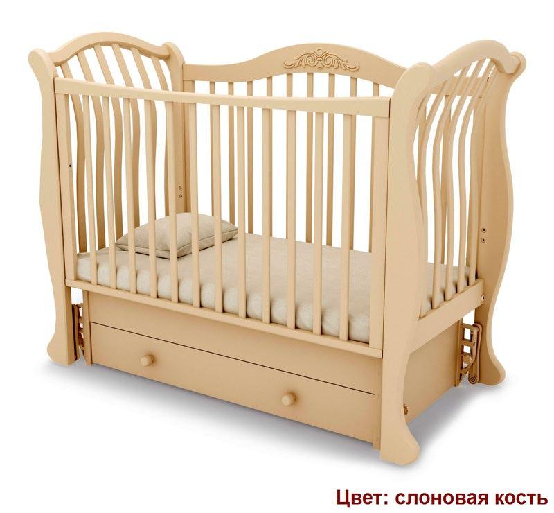 Кроватка GANDYLYAN Габриэлла люкс (маятник универсальный) (фото, вид 13)