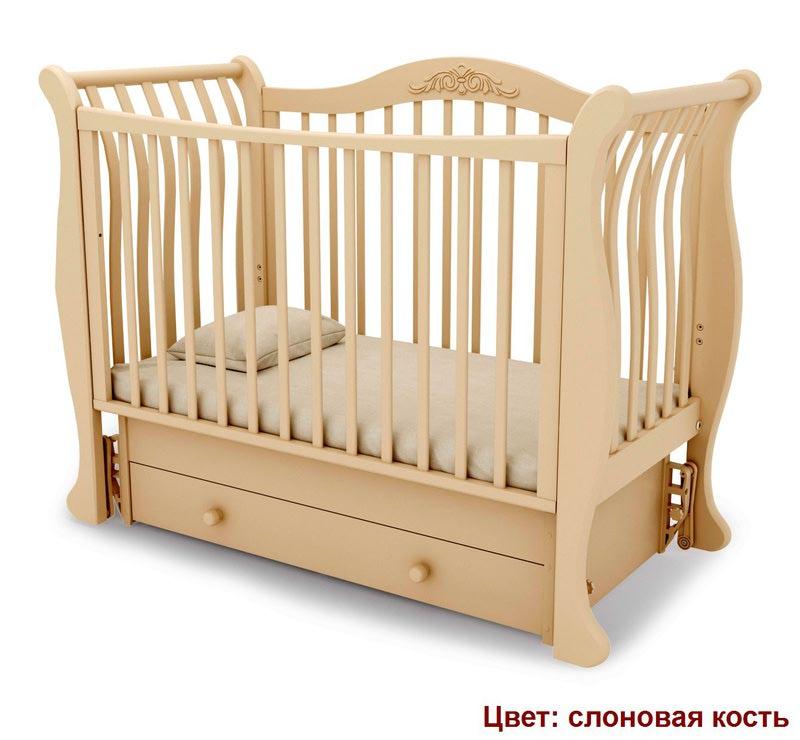 Кроватка GANDYLYAN Габриэлла (маятник универсальный) (фото, вид 11)