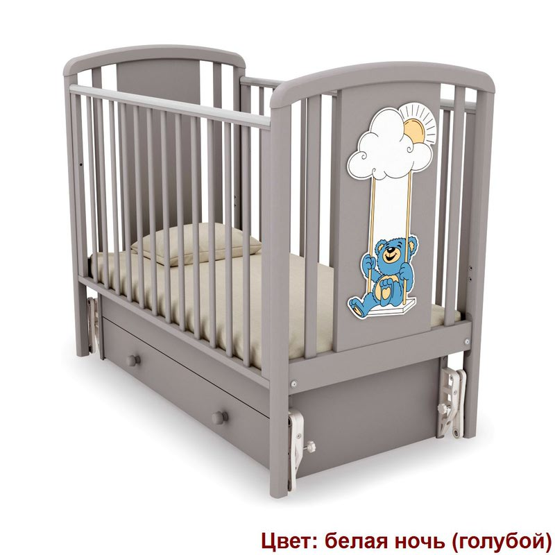 Кроватка GANDYLYAN ЖАКЛИН (мишка на качелях) (фото, вид 4)