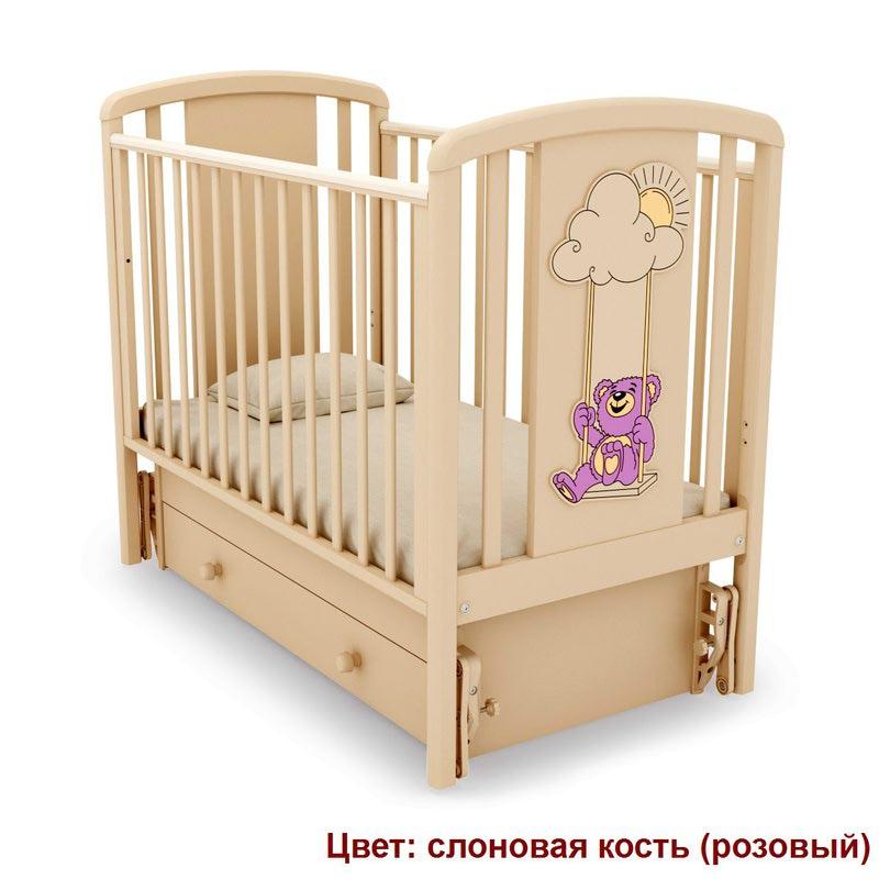 Кроватка GANDYLYAN ЖАКЛИН (мишка на качелях) (фото, вид 5)