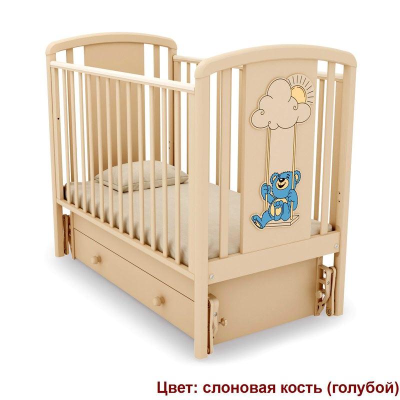 Кроватка GANDYLYAN ЖАКЛИН (мишка на качелях) (фото, вид 6)