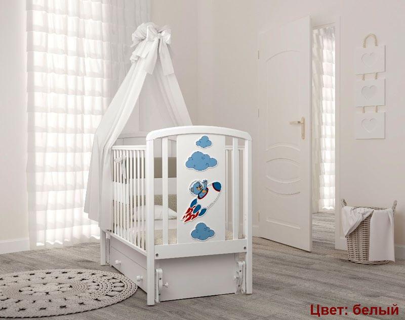 Кроватка GANDYLYAN Жаклин (мишка на ракете) (фото, вид 1)