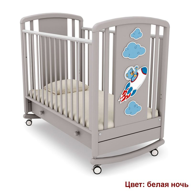 Кроватка GANDYLYAN Жаклин (мишка на ракете) (фото, вид 5)