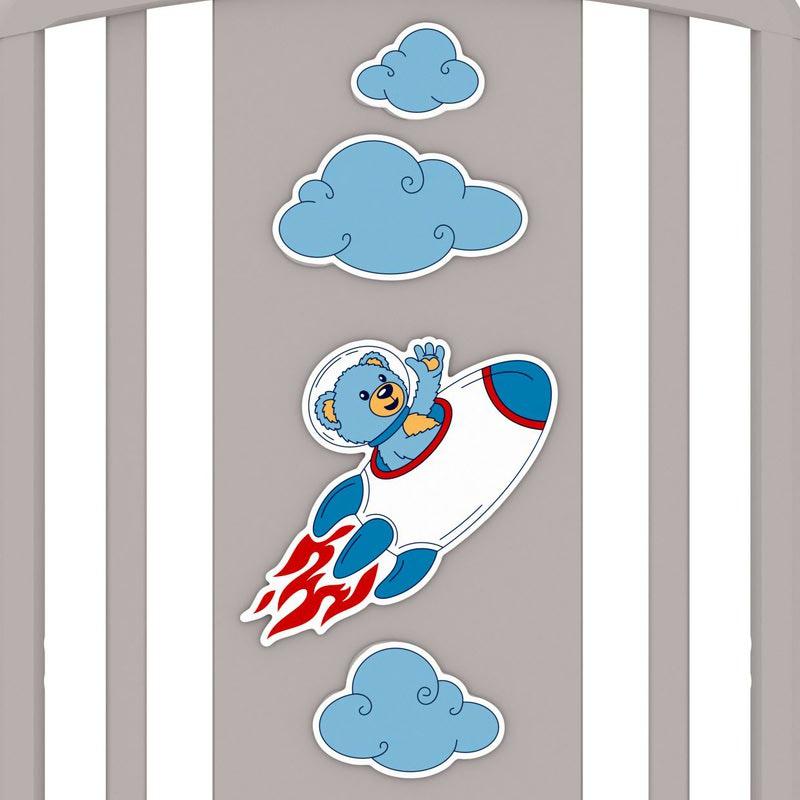 Кроватка GANDYLYAN Жаклин (мишка на ракете) (фото, вид 7)
