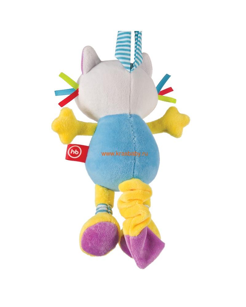 "HAPPY BABY Подвесная игрушка-растяжка с вибрацией ""Кот"" (фото, вид 1)"