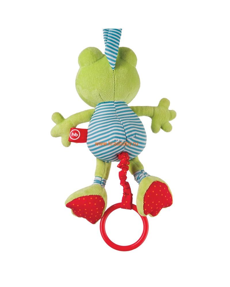 """HAPPY BABY Подвесная музыкальная игрушка-растяжка """"Лягушка"""" (фото, вид 1)"""
