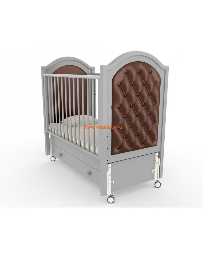 Кроватка GANDYLYAN СОФИ ЛЮКС (продольный маятник на колесах) (фото, вид 2)