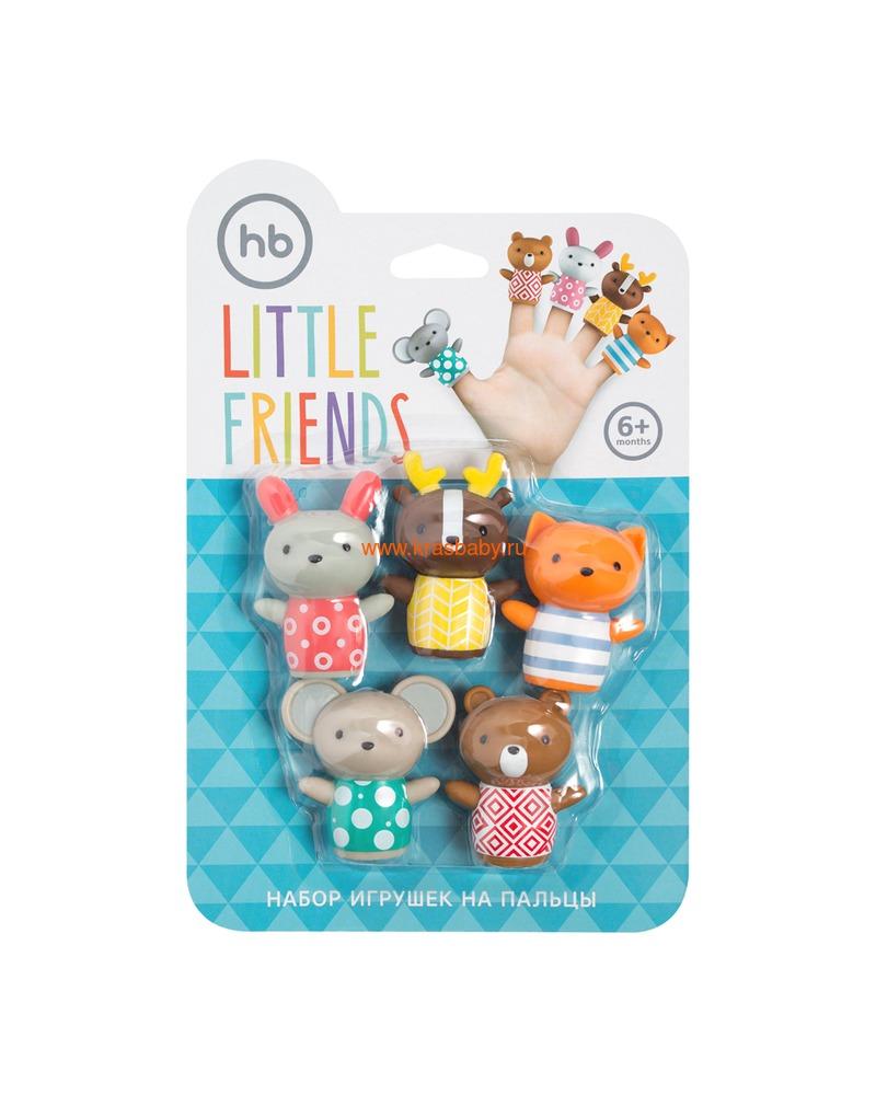 HAPPY BABY Набор ПВХ-игрушек для ванной LITTLE FRIENDS (фото, вид 1)
