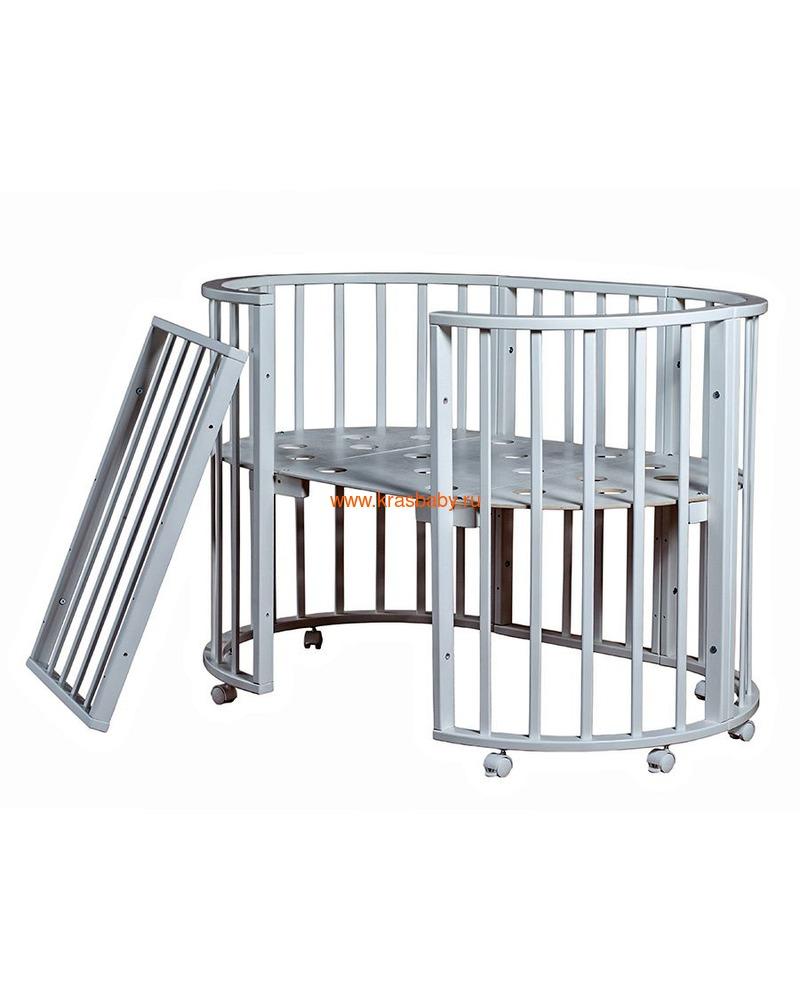 Кроватка МОЙ МАЛЫШ НИКОЛЬ (круглая) (фото, вид 1)