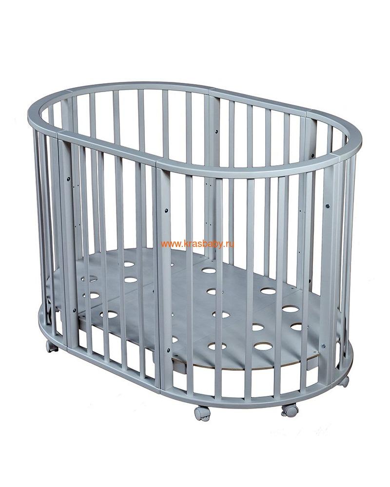 Кроватка МОЙ МАЛЫШ НИКОЛЬ (круглая) (фото, вид 3)