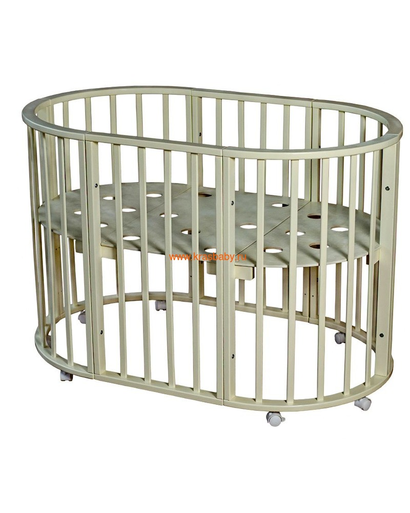 Кроватка МОЙ МАЛЫШ НИКОЛЬ (круглая) (фото, вид 4)